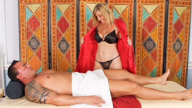 Happy End to Ashden Wells During Massage